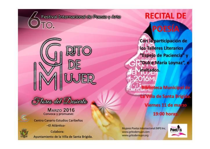 Recital Poesía 11 marzo
