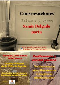 Cartel Conversaciones Samir Delgado