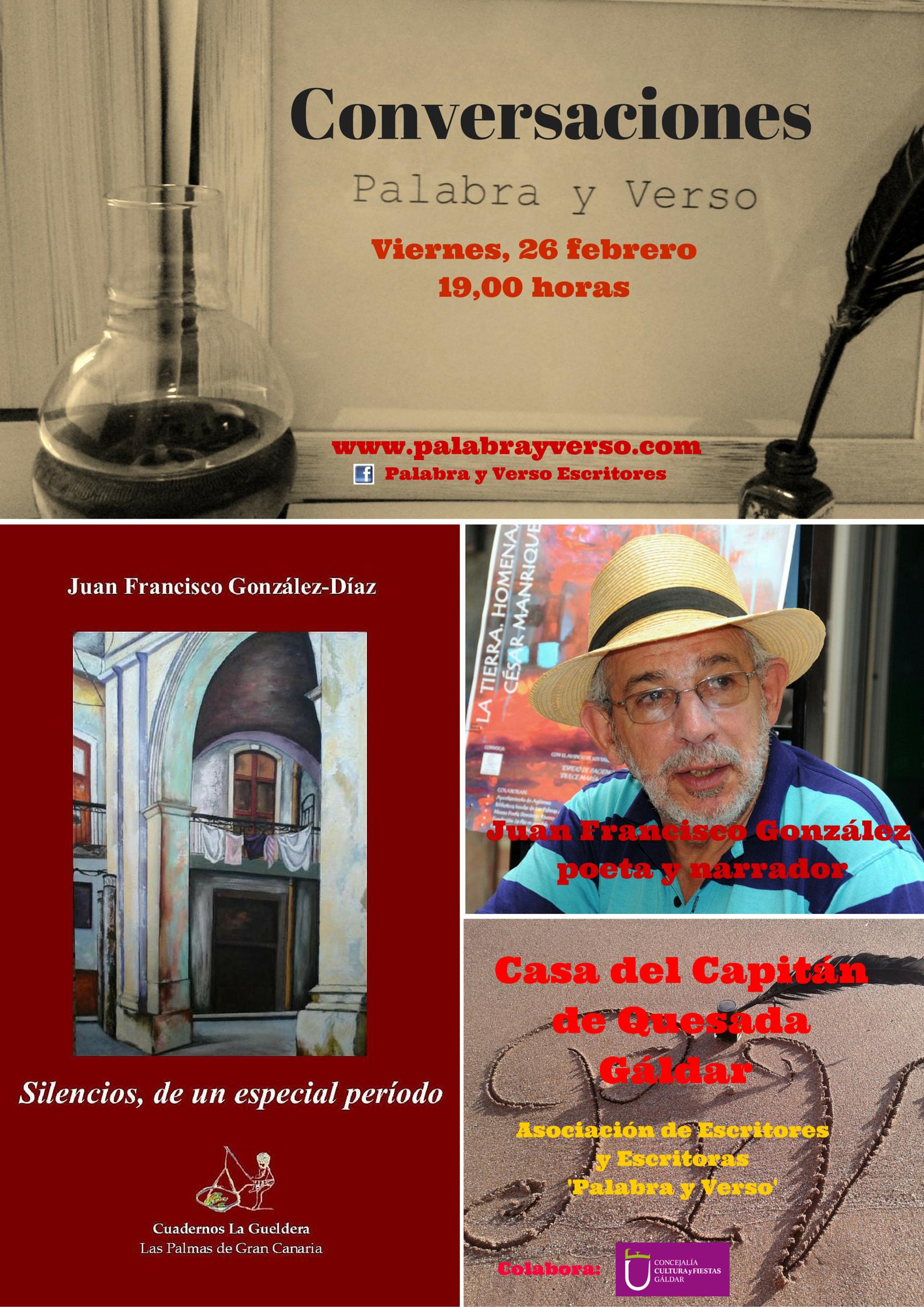 Cartel Juan Fra conversaciones