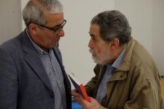 Manuel Díaz Martínez, con César Ubierna, director de la Casa-Museo Antonio Padrón