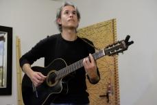 Heriberto Cruz aportó la música al evento