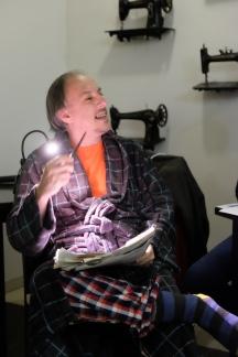 Roberto Iglesias, en el momento de su monólogo