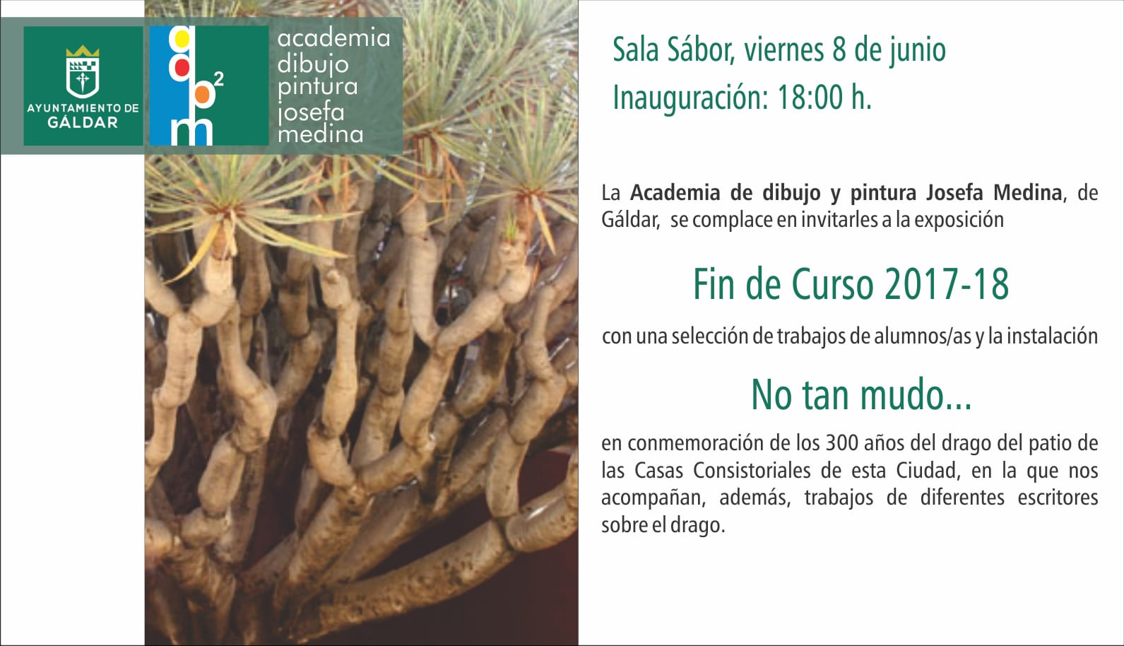 Cartel Expo Academia Pintura