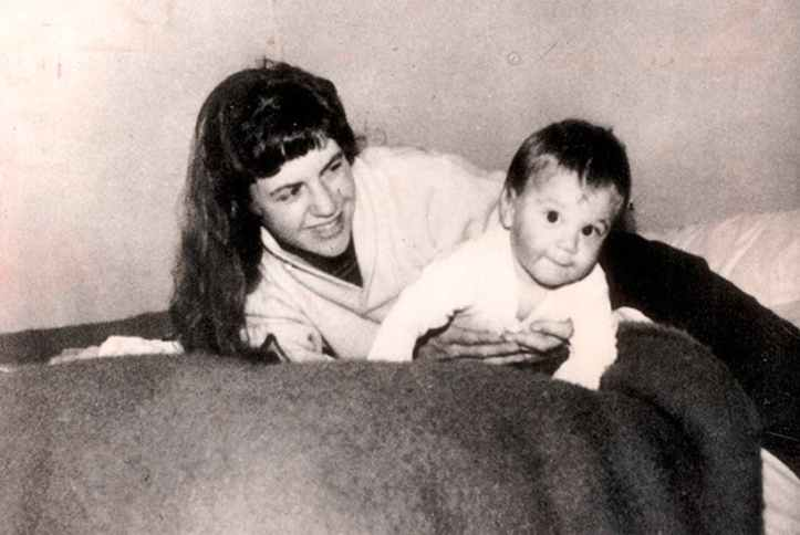 Plath-with-baby
