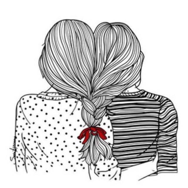 dibujos-para-mi-mejor-amiga-a-lapiz-lindos