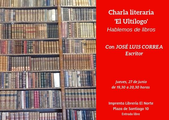 'Ultílogo', charla literaria