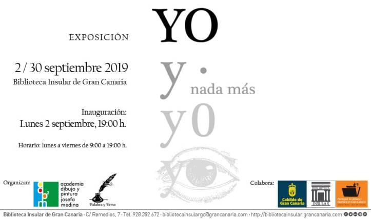 Invitación Expo YO Biblioteca Insular